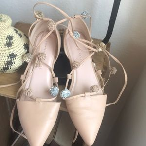 Loeffler Randall ballet pointy toe lace ups